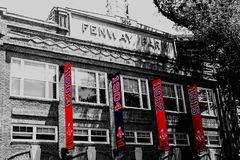 Fenway Park Banners royalty free stock image