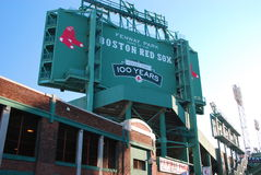 Fenway park, Boston. External view of score board at Fenqay park, Red Sox,s baseball stadium Royalty Free Stock Images