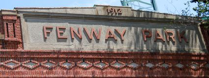 Fenway Park, Boston, MA. Historic Fenway Park, Downtown, Boston, MA.  Home of the Boston Red Sox Stock Photos