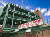 Fenway Park entrance. The Fenway Park Stadium Sign in Boston, Massachusetts,USA Stock Images