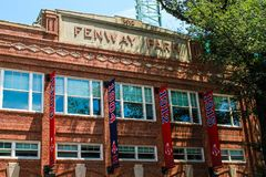 Fenway Park. Historic Fenway Park, Downtown, Boston, MA.  Home of the Boston Red Sox Stock Photos