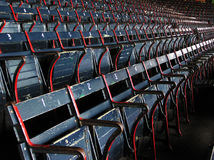 Fenway Park - A Look Into the Past. Classic seats for a classic ballpark - Fenway Park, home of the Red Sox,  in Boston, Massachusetts Royalty Free Stock Photos