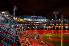Fenway Park at night Royalty Free Stock Photography