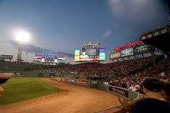 Fenway Park at night on Memorial Day Stock Images