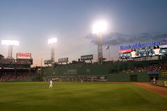 Fenway Park at night on Memorial Day Royalty Free Stock Photos