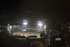Fenway Park at night Stock Photo