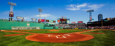 Fenway Park Panoramic view Royalty Free Stock Images