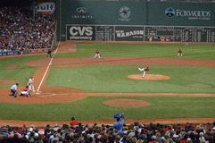 Fenway Park Pitch stock photography
