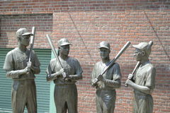 Fenway Park Statue Stock Images