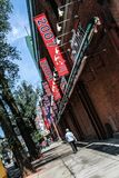 Fenway Park. Strolling down Yawkey Way outside of historic Fenway Park, Boston, MA Stock Photography