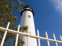 fenwick海岛灯塔 免版税库存图片