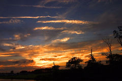 Fenwick Insel-Sonnenuntergang Stockbilder