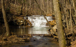 The Fenwick Mines Falls. Fenwick Mines falls located in Fenwick Mines Recreational Area in New Castle, Virginia, USA Royalty Free Stock Image