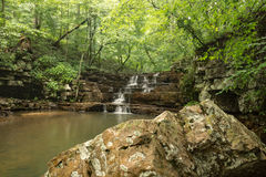 The Fenwick Mines Falls. Fenwick Mines falls located in Fenwick Mines Recreational Area in New Castle, Virginia, USA Royalty Free Stock Photos