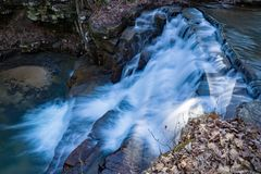Fenwick Mines Waterfall. S located in Jefferson National Forest, Craig County, Virginia, USA Royalty Free Stock Photo