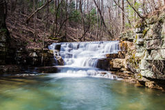 Fenwick Mines Waterfall. S located in Fenwick Mines Recreational Area in New Castle, Virginia, USA Stock Image