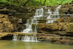 Fenwicken bryter vattenfallet arkivfoto