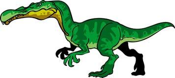 Feo de la historieta del suchomimmus del dinosaurio verde mún stock de ilustración