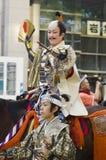 Feodal Herre på den Nagoya festivalen, Japan fotografering för bildbyråer