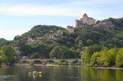 Feodal slott av Castelnaud Royaltyfria Bilder