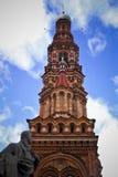 Feodor Chaliapin en Klokketoren van Kerk Epiphany Royalty-vrije Stock Foto's