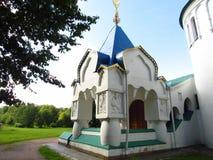 Feodorovskiy gosudarev大教堂在市普希金,俄罗斯, 2017年9月9日,教堂 库存照片