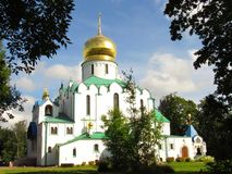 Feodorovskiy gosudarev大教堂在市普希金,俄罗斯, 2017年9月9日 库存图片