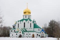 Feodorovsky大教堂在亚历山大公园在普希金, 图库摄影