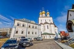 Feodorovsky我们的从内在围场的夫人Feodorovskaya象的大教堂大教堂看法  库存图片