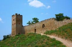 feodosia堡垒热那亚人的城镇乌克兰 库存图片