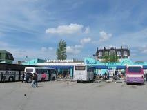 Feodosiya, Россия - 29-ое апреля 2016: автобусная станция и квадрат Стоковое Изображение RF