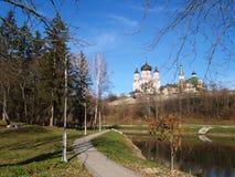 Feofaniyapark in Kyiv & x28; Ukraine& x29; Stock Afbeeldingen