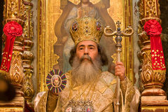 Feofil - Patriarch of orthodox church in Jerusalem Stock Photo