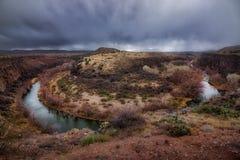 Fer à cheval de rivière de Verde photographie stock
