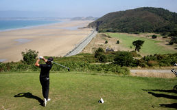 Fer Adarraga no desafio 2013 do golfe de Pleneuf Val Andre Fotografia de Stock