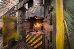 Fer chaud dans le smeltery Photos libres de droits