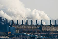 Fer et centrale métallurgique en acier Photographie stock libre de droits