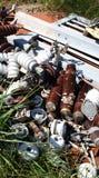 Fer et pollution électrique de chute images libres de droits