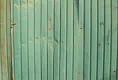 Fer galvanisé par vert Photographie stock