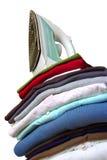 Fer sur des vêtements Photo stock