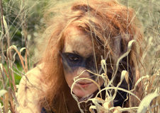 Feral Girl Stock Images
