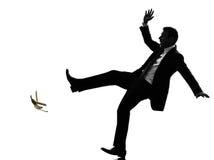 Feralna beztroska biznesowego mężczyzna sylwetka Fotografia Royalty Free