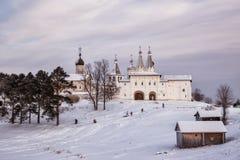 Ferapontov kloster, Ryssland royaltyfria bilder