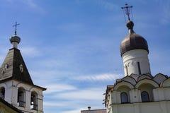 Ferapontovo, 2018年7月 修道院 非常美丽的景色 免版税库存图片