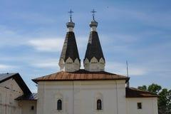 Ferapontovo, 2018年7月 修道院 非常美丽的景色 图库摄影