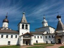 Ferapontovo, em julho de 2018 monastery vistas muito bonitas ao redor imagens de stock