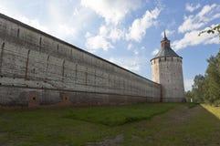 Ferapontovskii (Moskovskaya) tornKirillo-Belozersky kloster, Vologda region, Ryssland fotografering för bildbyråer