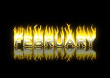 Ferbruary auf Feuer Stockbilder