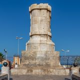 Ferdinand de Lesseps statygrund, ing?ng av den Suez kanalen, Port Said, Egypten arkivbild