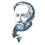 Ferdinand Magellan - a great traveler. vector portrait Stock Photos